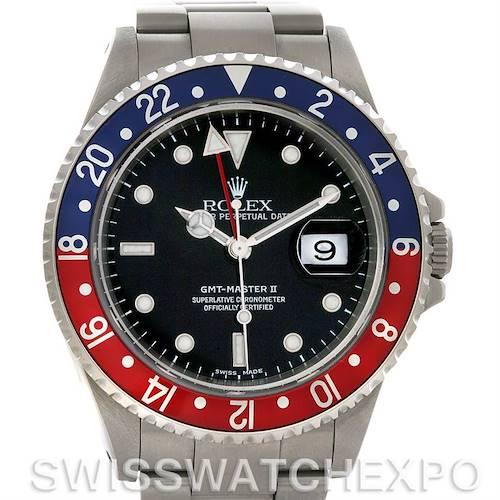 Photo of Rolex GMT Master II Pepsi Bezel Steel Mens Watch 16710