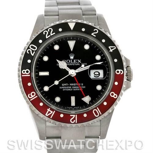 Photo of Rolex GMT Master II Coke Bezel Mens Watch 16710