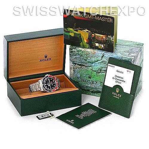 Rolex GMT Master II Pepsi Bezel Mens Watch 16710 SwissWatchExpo