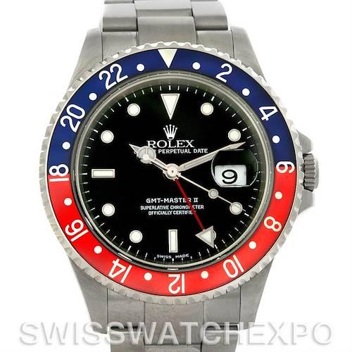 Photo of Rolex GMT Master II Pepsi Bezel Mens Watch 16710