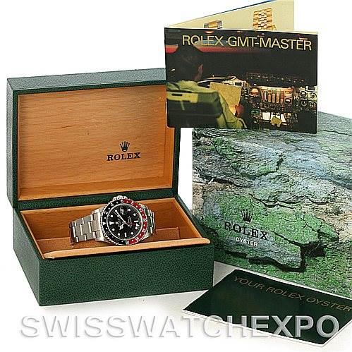4316 Rolex GMT Master II Stainless Steel Mens Watch 16710 SwissWatchExpo