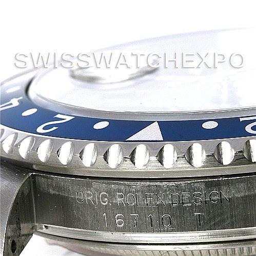 Rolex GMT Master II Stainless Steel Mens Watch 16710 SwissWatchExpo