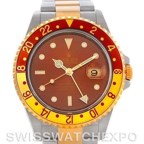 Photo of Rolex GMT Master II Men's 18k and Steel Watch 16713