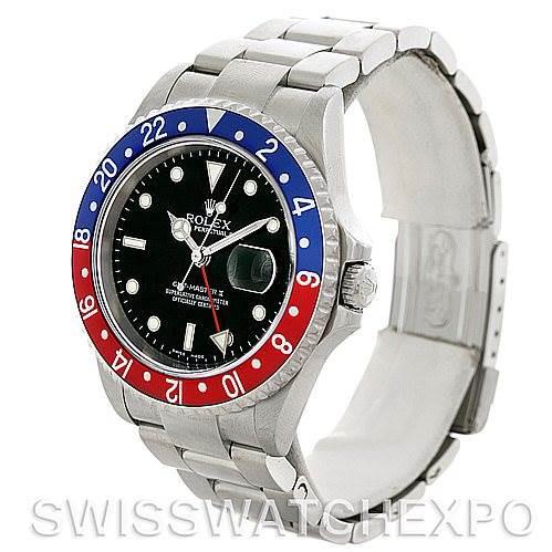Rolex GMT Master II Mens Steel Watch 16710 Watch SwissWatchExpo