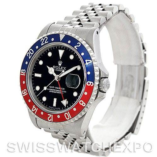 Rolex GMT Master II Mens Steel Watch 16700 Watch SwissWatchExpo