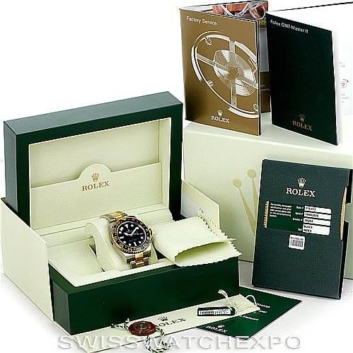 Rolex GMT Master II Mens 18k Gold Steel Watch 116713 Unworn SwissWatchExpo