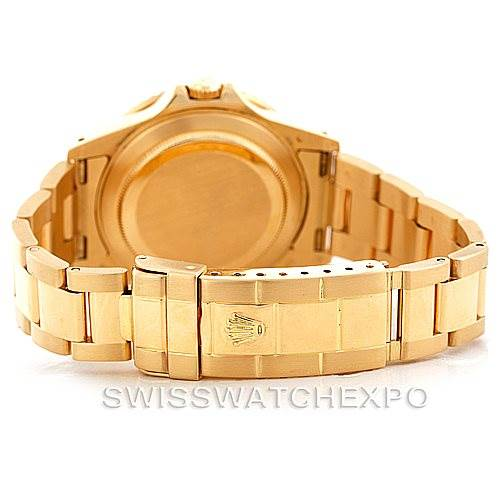 Rolex GMT Master Transitional 18k Yellow Gold Mens Watch 16758 SwissWatchExpo
