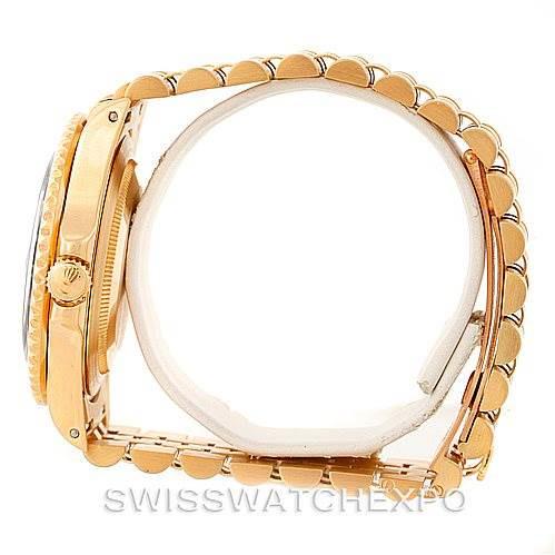 Rolex GMT Master II Mens 18k Yellow Gold Watch 16718 SwissWatchExpo