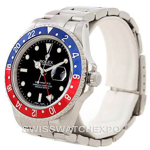 Rolex GMT Master II Mens Watch 16710 SwissWatchExpo