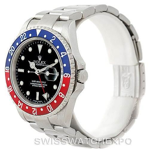 Rolex GMT Master II Mens Stainless Steel Mens Watch 16710 SwissWatchExpo