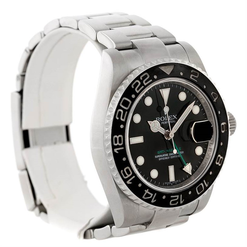 Rolex GMT Master II 116710 Steel Ceramic Mens Watch SwissWatchExpo