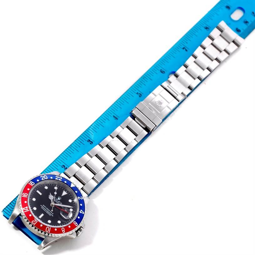 8581 Rolex GMT Master II Pepsi Bezel Mens Watch 16710 SwissWatchExpo