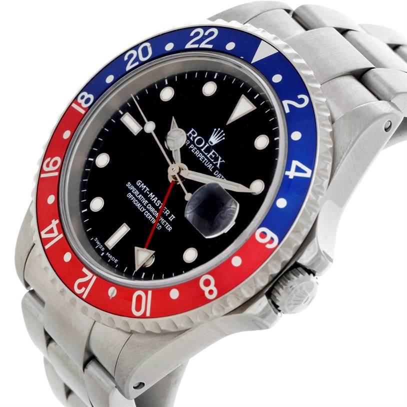 8581 Rolex GMT Master II Pepsi Bezel Mens Watch 16710 SwissWatchExpo