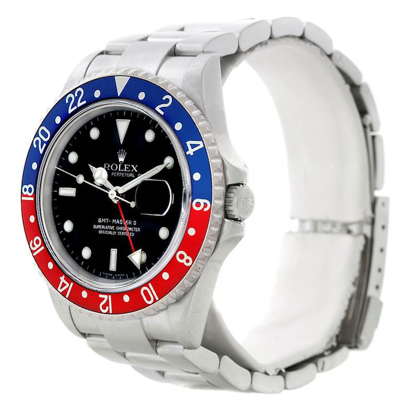Rolex GMT Master II Pepsi Bezel Mens Watch 16710 SwissWatchExpo