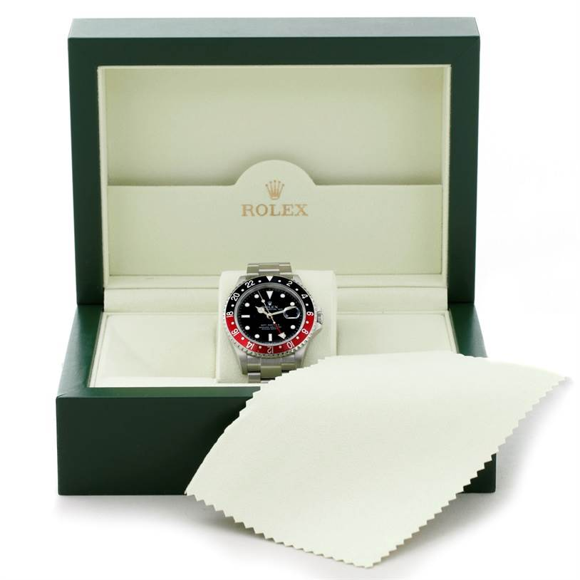 Rolex GMT Master II Coke Bezel Mens Watch 16710 SwissWatchExpo