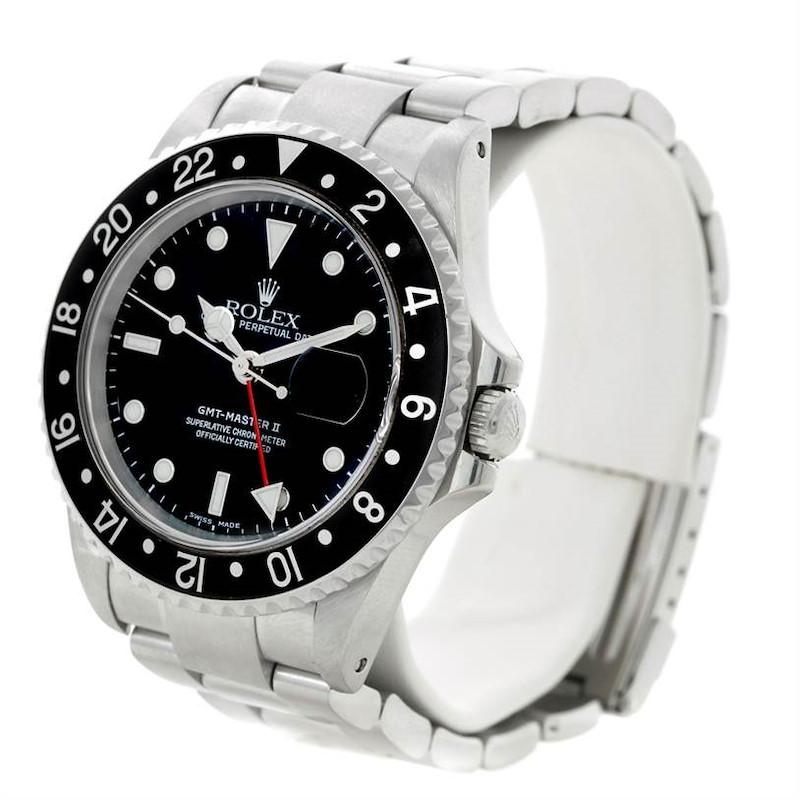 Rolex GMT Master II Mens Steel Watch 16710 SwissWatchExpo