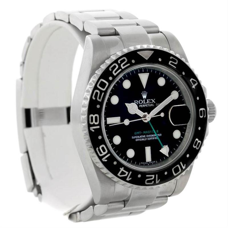 Rolex GMT Master II Steel Ceramic Mens Watch 116710 SwissWatchExpo