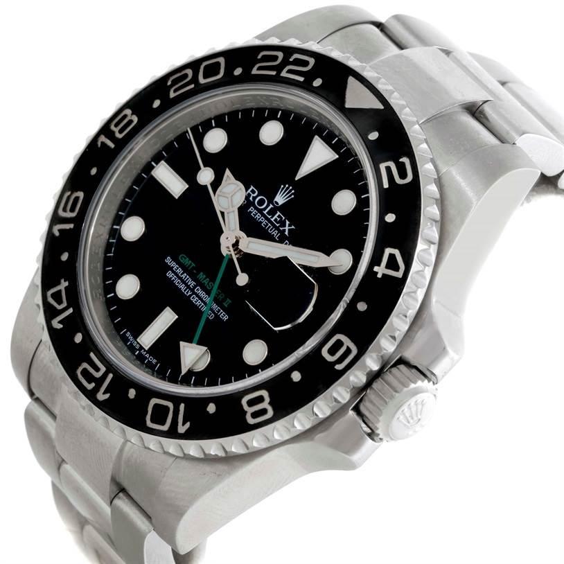 9786 Rolex GMT Master II Ceramic Bezel Stainless Steel Mens Watch 116710 SwissWatchExpo