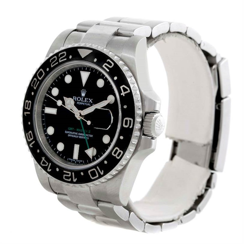 Rolex GMT Master II Ceramic Bezel Stainless Steel Mens Watch 116710 SwissWatchExpo