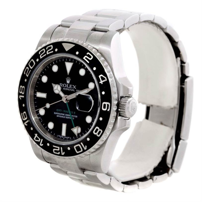 Rolex GMT Master II Mens Ceramic Bezel Stainless Steel Watch 116710 SwissWatchExpo