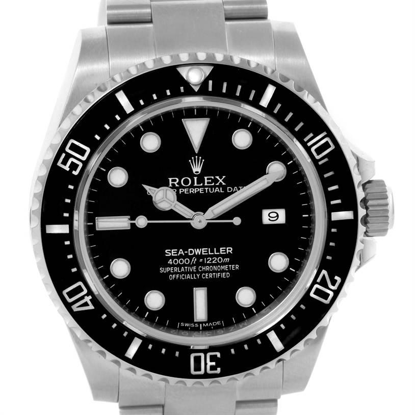 10404 Rolex Seadweller 4000 Steel Ceramic Bezel Mens Watch 116600 Unworn SwissWatchExpo