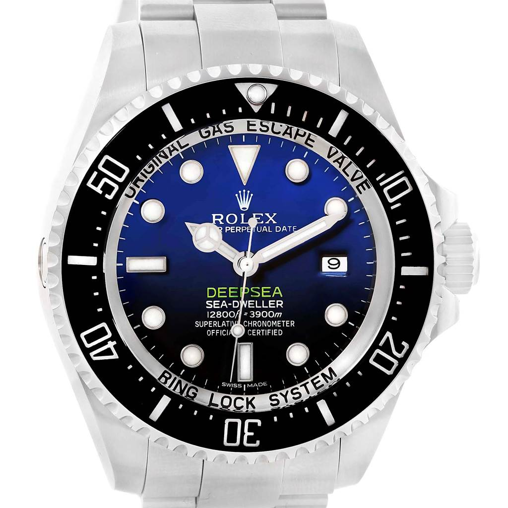 13707 Rolex Seadweller Deepsea D-Blue Dial Mens Watch 116660 Box Papers SwissWatchExpo