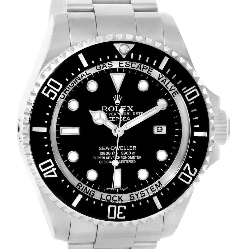 Rolex Seadweller Deepsea Ceramic Bezel Steel Mens Watch 116660 SwissWatchExpo