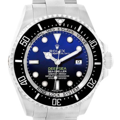 Photo of Rolex Seadweller Deepsea Cameron D-Blue Dial Mens Watch 116660 Box Card