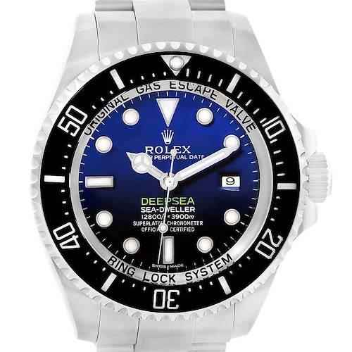 Photo of Rolex Seadweller Deepsea Cameron D-Blue Mens Watch 116660 Box Papers