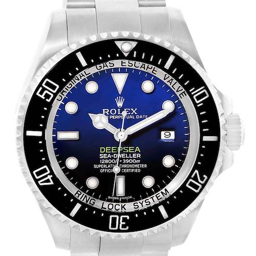 Photo of Rolex Seadweller Deepsea Cameron D-Blue Steel Watch 116660 Box Card