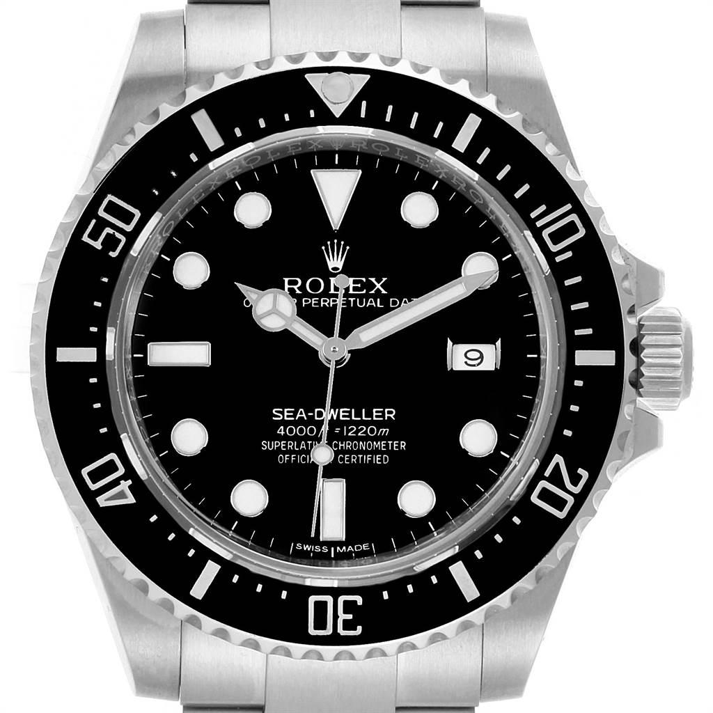 067a020185f ... 21959 Rolex Seadweller 4000 Stainless Steel Mens Date Watch 116600  SwissWatchExpo ...