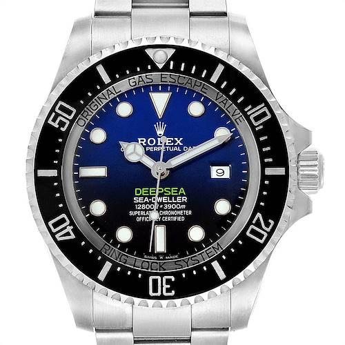 Photo of Rolex Seadweller Deepsea 44 Cameron D-Blue Mens Watch 126660 Box Card