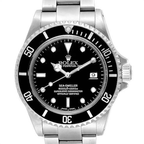 Photo of Rolex Seadweller 40 Black Dial Steel Mens Watch 16600 Box