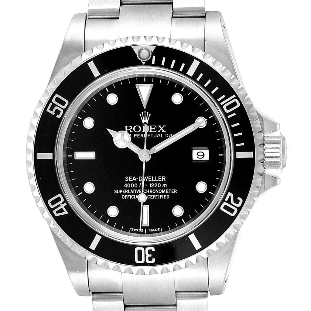 Rolex Seadweller Black Dial Oyster Bracelet Steel Mens Watch 16600