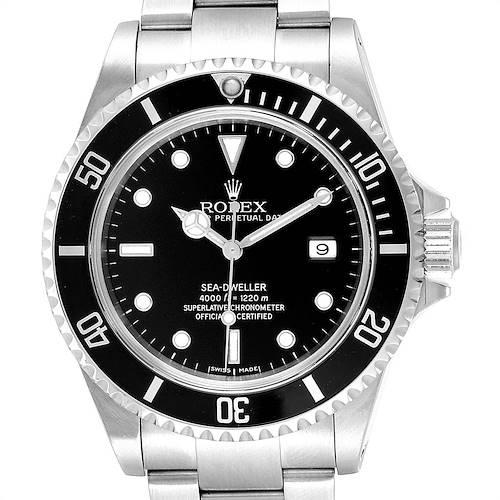 Photo of Rolex Seadweller Black Dial Oyster Bracelet Steel Mens Watch 16600