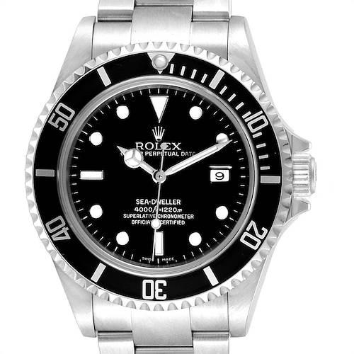 Photo of Rolex Sea-dweller Black Dial Automatic Steel Mens Watch 16600 Box