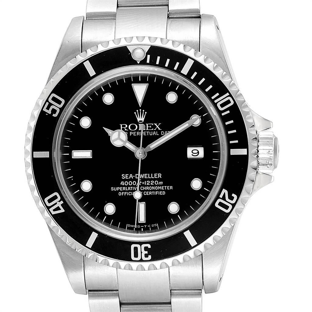 Rolex Seadweller Black Dial Stainless Steel Mens Watch 16600