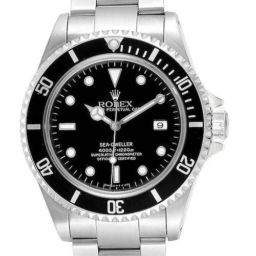 Photo of Rolex Seadweller Black Dial Stainless Steel Mens Watch 16600