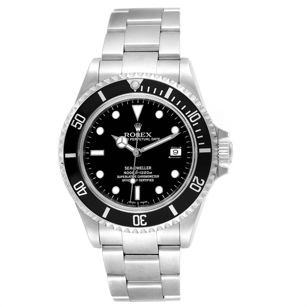 23454 Rolex Seadweller 40 Black Dial Oyster Bracelet Mens Watch 16600 SwissWatchExpo
