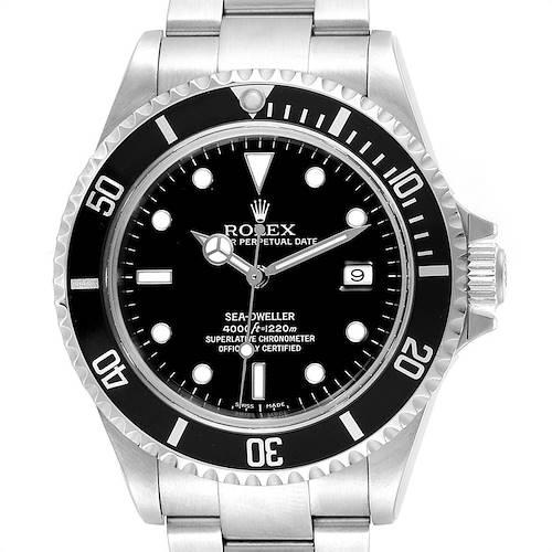 Photo of Rolex Seadweller 40 Black Dial Oyster Bracelet Mens Watch 16600