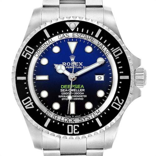 Photo of Rolex Seadweller Deepsea 44 Cameron D-Blue Mens Watch 126660 Box Card