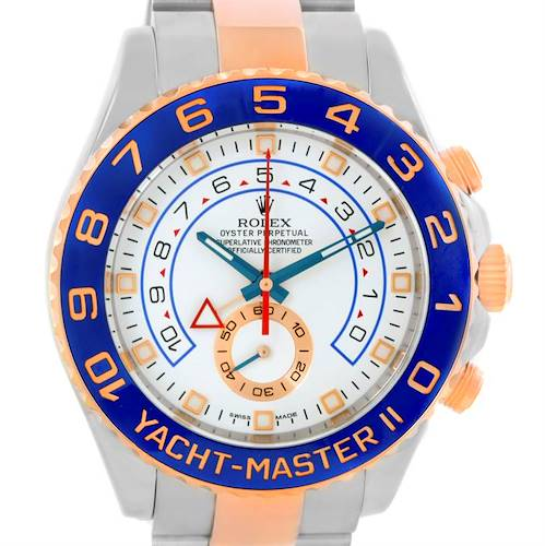 Photo of Rolex Yachtmaster II Stainless Steel 18k Rose Gold Mens Watch 116681
