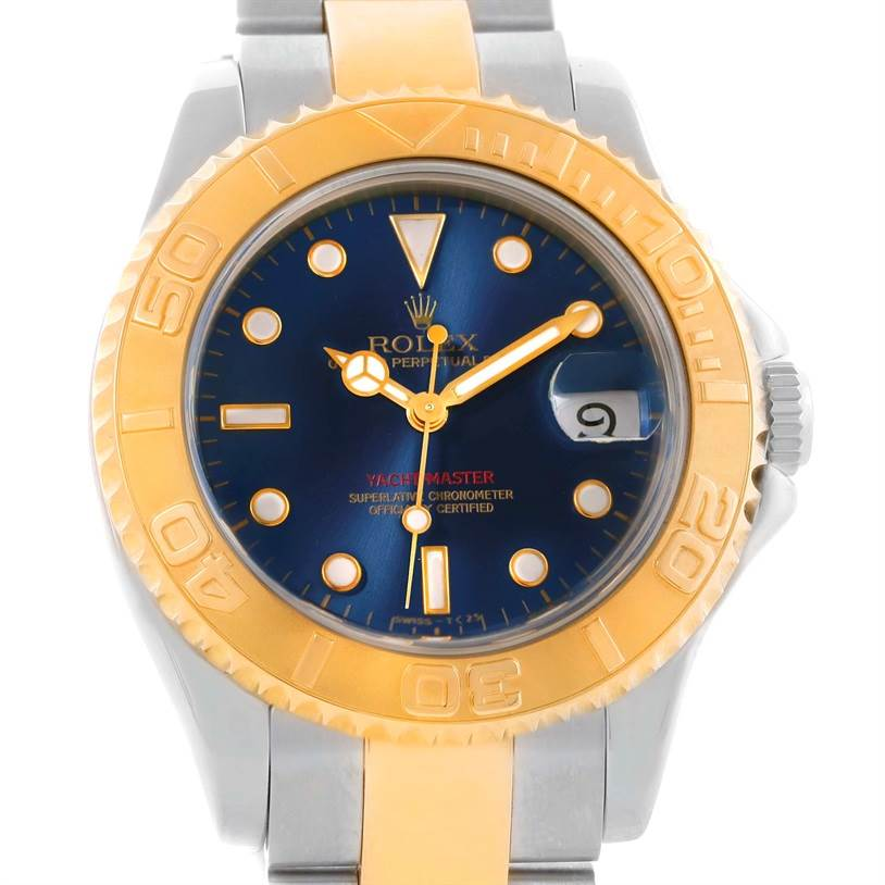10774 Rolex Yachtmaster Stainless Steel Yellow Gold Midsize Watch 68623 SwissWatchExpo