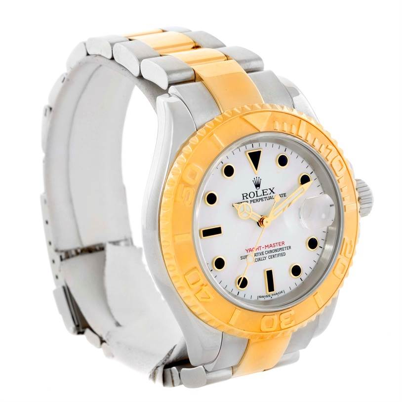 rolex yachtmaster stainless steel 18k yellow gold mens