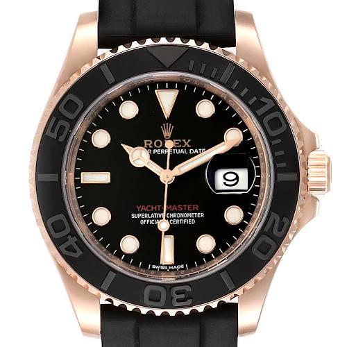 Photo of Rolex Yachtmaster 40 18K Everose Gold Rubber Strap Watch 116655 Unworn