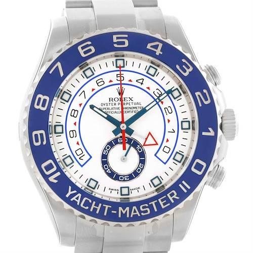 Photo of Rolex Yachtmaster II Stainless Steel Blue Bezel Watch 116680 Unworn