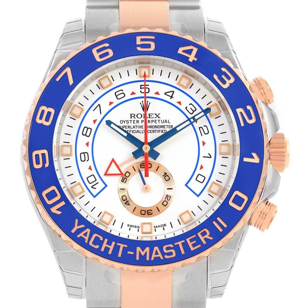 13963 Rolex Yachtmaster II Stainless Steel 18k Rose Gold Watch 116681 Unworn SwissWatchExpo