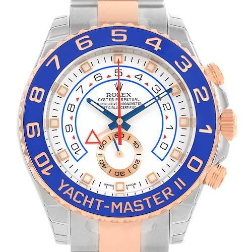 Photo of Rolex Yachtmaster II Stainless Steel 18k Rose Gold Watch 116681 Unworn