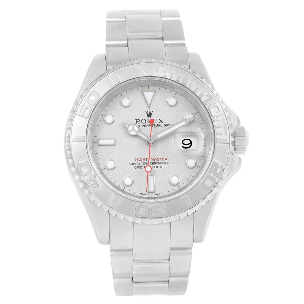 13984 Rolex Yachtmaster Stainless Steel Platinum Automatic Mens Watch 16622 SwissWatchExpo
