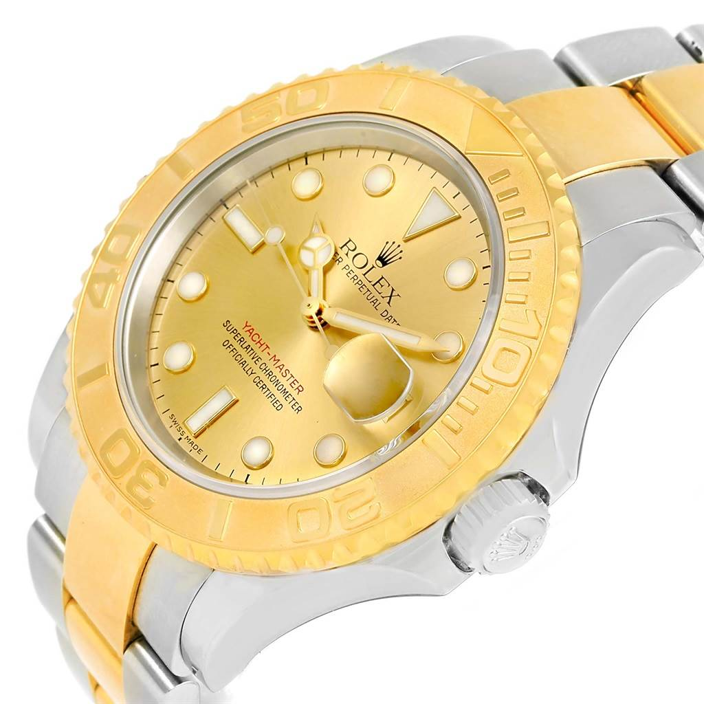 rolex yachtmaster steel 18k yellow gold mens 16623